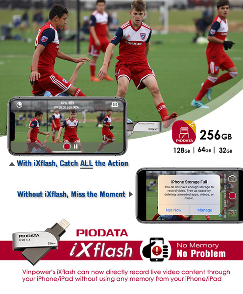 Vinpower's iXflash can now directly record live video content